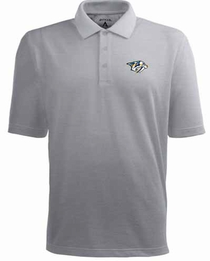 Nashville Predators Mens Pique Xtra Lite Polo Shirt (Color: Gray)