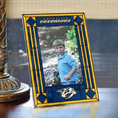 Nashville Predators Portrait Art Glass Picture Frame