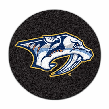 Nashville Predators Puck Shaped Rug