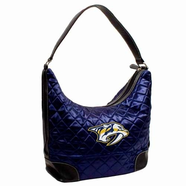 Nashville Predators Quilted Hobo Purse