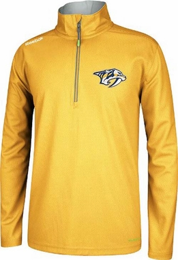 Nashville Predators Reebok 2013 Center Ice 1/4 Zip Performance Sweatshirt