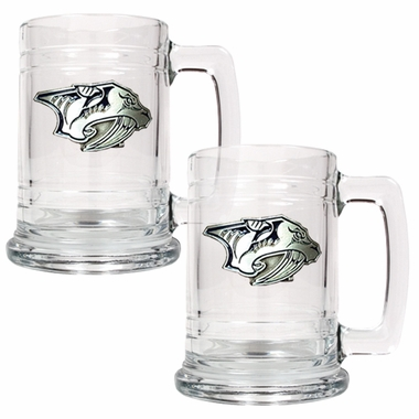 Nashville Predators Set of 2 15 oz. Tankards