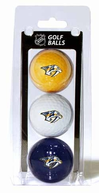 Nashville Predators Set of 3 Multicolor Golf Balls