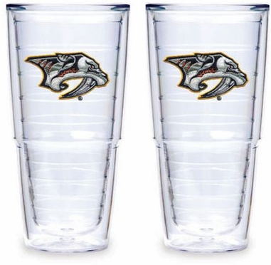 "Nashville Predators Set of TWO 24 oz. ""Big T"" Tervis Tumblers"