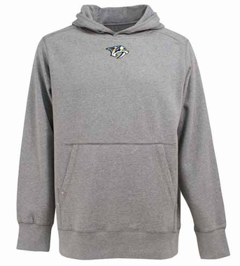 Nashville Predators Mens Signature Hooded Sweatshirt (Color: Gray)