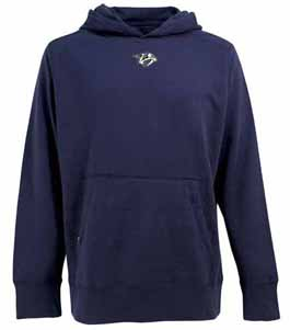 Nashville Predators Mens Signature Hooded Sweatshirt (Team Color: Navy) - Large