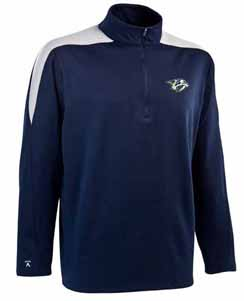 Nashville Predators Mens Succeed 1/4 Zip Performance Pullover (Team Color: Navy) - Medium