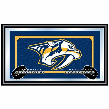 Nashville Predators Team Logo Bar Mirror