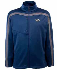 Nashville Predators Mens Viper Full Zip Performance Jacket (Team Color: Navy) - Large