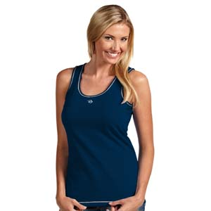 Nashville Predators Womens Sport Tank Top (Color: Navy) - Small