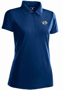 Nashville Predators Womens Pique Xtra Lite Polo Shirt (Team Color: Navy)