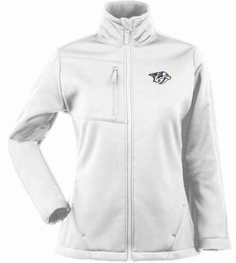 Nashville Predators Womens Traverse Jacket (Color: White)
