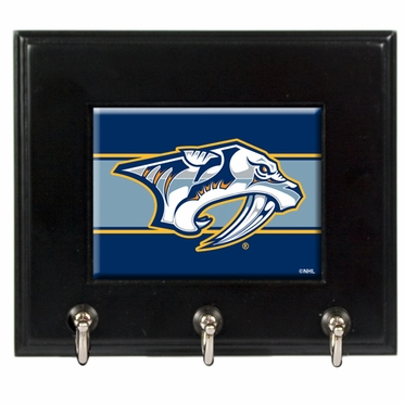 Nashville Predators Wooden Keyhook Rack