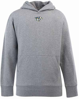 Nashville Predators YOUTH Boys Signature Hooded Sweatshirt (Color: Gray)