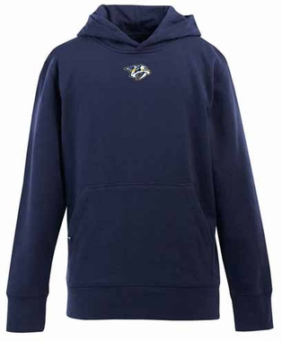 Nashville Predators YOUTH Boys Signature Hooded Sweatshirt (Color: Navy)