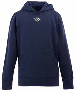 Nashville Predators YOUTH Boys Signature Hooded Sweatshirt (Team Color: Navy) - Large