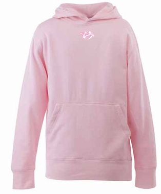 Nashville Predators YOUTH Girls Signature Hooded Sweatshirt (Color: Pink)