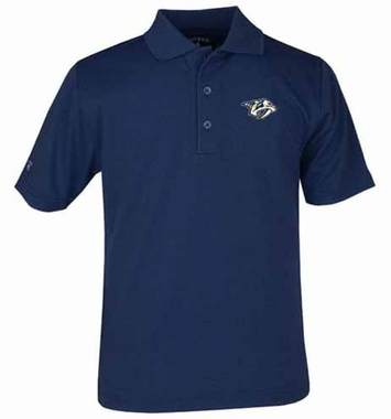 Nashville Predators YOUTH Unisex Pique Polo Shirt (Team Color: Navy)