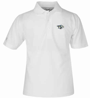 Nashville Predators YOUTH Unisex Pique Polo Shirt (Color: White)