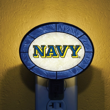 Navy Art Glass Night Light
