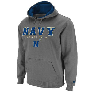 Navy Automatic Hooded Sweatshirt (Charcoal) - X-Large