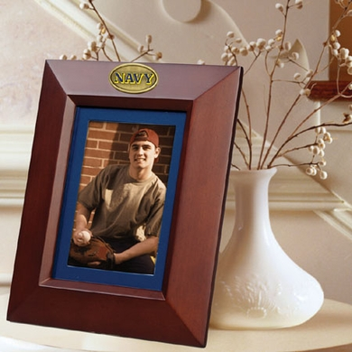 Navy BROWN Portrait Picture Frame