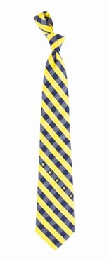 Navy Check Poly Necktie
