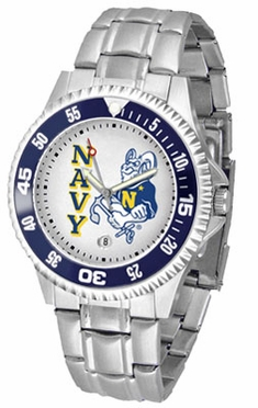 Navy Competitor Men's Steel Band Watch