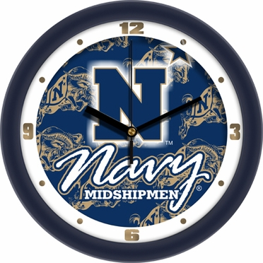Navy Dimension Wall Clock