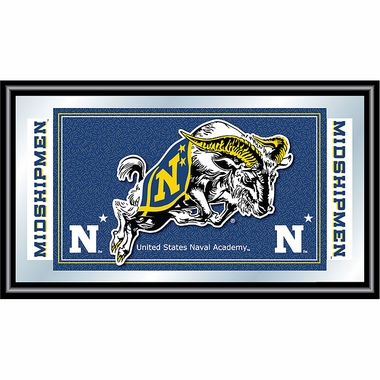 Navy Framed Logo Mascot Bar Mirror