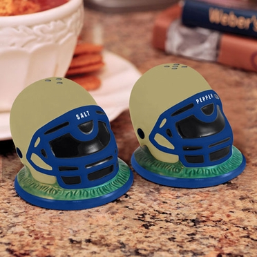 Navy Helmet Ceramic Salt and Pepper Shakers
