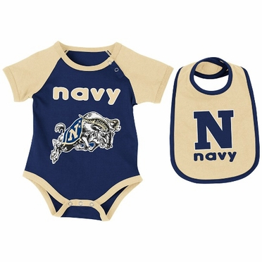 Navy Infant Rocker Onesie w/Bib