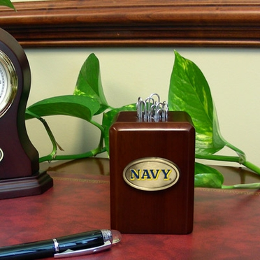 Navy Paper Clip Holder