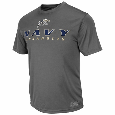 Navy Rush Short Sleeve Performance Shirt (Charcoal)