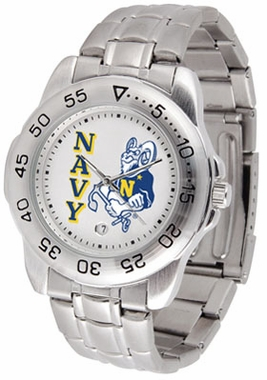Navy Sport Men's Steel Band Watch