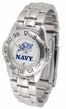 Navy Sport Women's Steel Band Watch