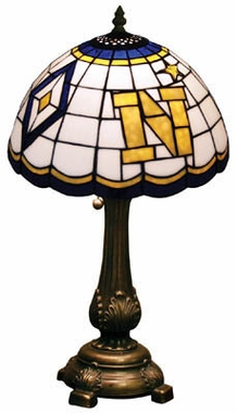 Navy Stained Glass Table Lamp