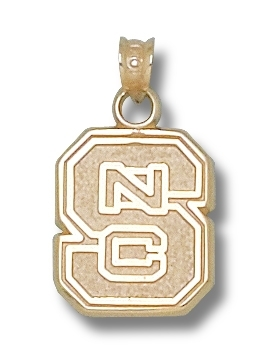NC State 10K Gold Pendant