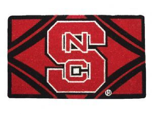 NC State 18x30 Bleached Welcome Mat