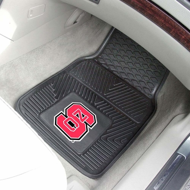 NC State 2 Piece Heavy Duty Vinyl Car Mats