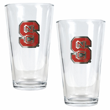 NC State 2 Piece Pint Glass Set