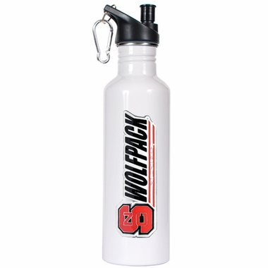 NC State 26oz Stainless Steel Water Bottle (White)