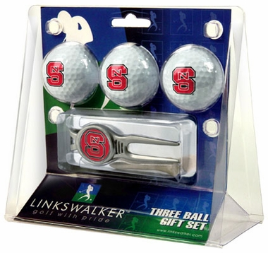 NC State 3 Ball Gift Pack With Kool Tool