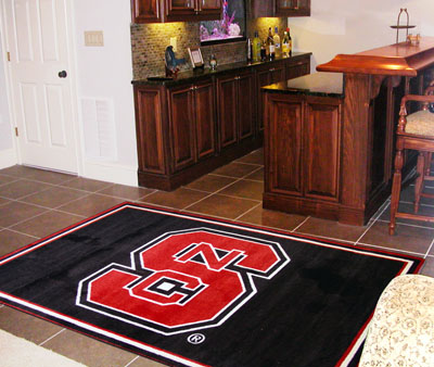 NC State 5 Foot x 8 Foot Rug