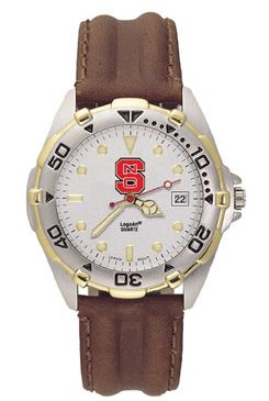 NC State All Star Mens (Leather Band) Watch