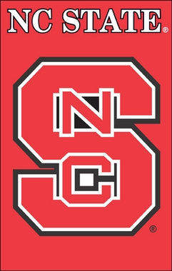 NC State Applique Banner Flag