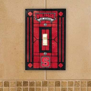 NC State Art Glass Lightswitch Cover
