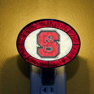NC State Art Glass Night Light