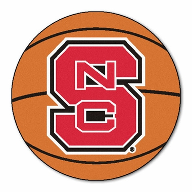 NC State 27 Inch Basketball Shaped Rug