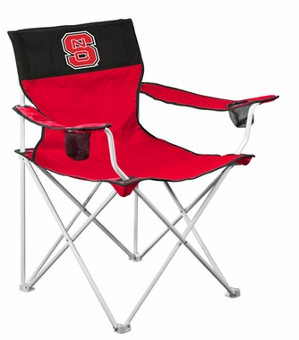 NC State Big Boy Adult Folding Logo Chair